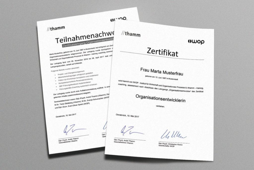 Lehrgangs-Zertifikate